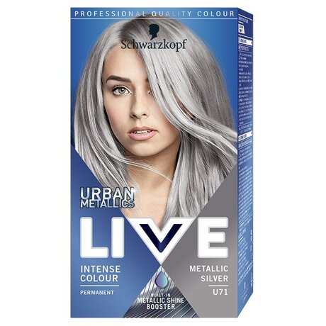 LIVE Color Urban Metallics U71 Metallic silver Боя за коса