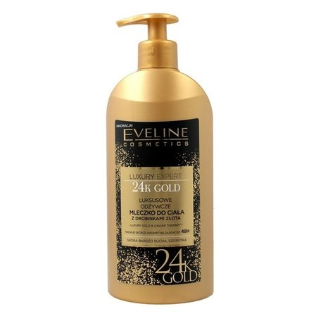 Eveline Luxury Lotion 24H.Gold  Лосион тяло златни частици 350мл.